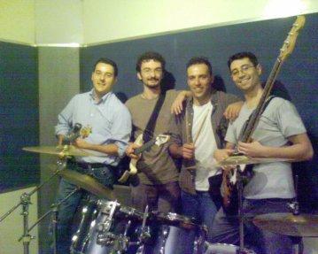 con la band...